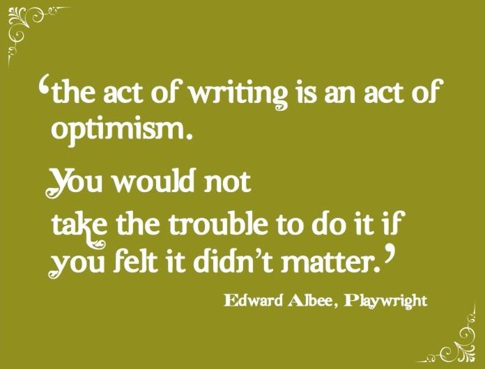Edward Albee optimism quote